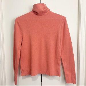 Eddie Bauer Stretch Coral Turtleneck Sweater